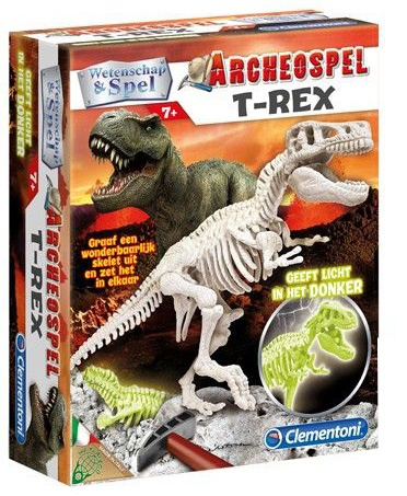 Clementoni Archeospel T rex glow in the dark