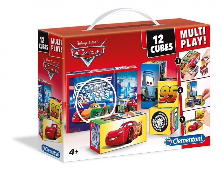 Clementoni blokkenpuzzel Cubi 12 Multiplay Cars 12 blokken
