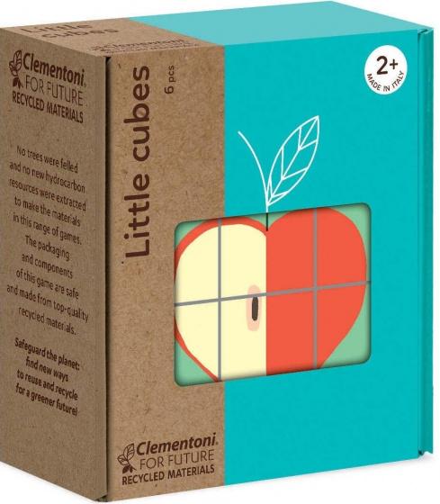 Clementoni blokkenpuzzel Little Cubes fruit 6 delig