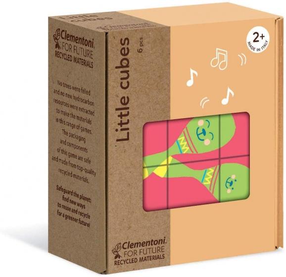 Clementoni blokkenpuzzel Little Cubes kinderen 6 delig