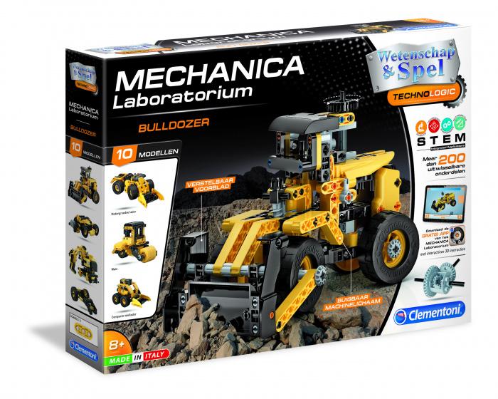 Clementoni bouwpakket Mechanica Laboratorium bulldozer