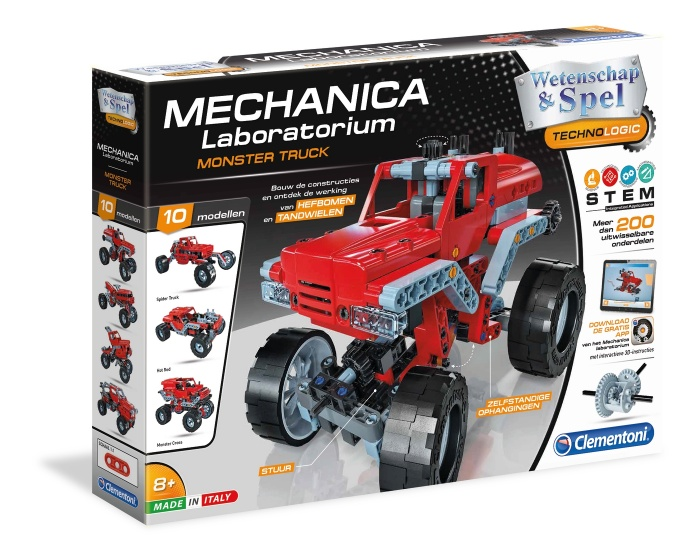 Clementoni bouwpakket Mechanica Laboratorium Monster trucks