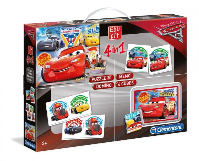 Clementoni Cars 3 spelbox 4 in 1