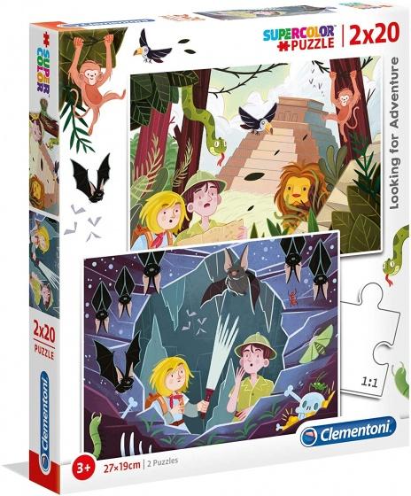 Clementoni Clementoni legpuzzel Adventure 20 stukjes 2 stuks