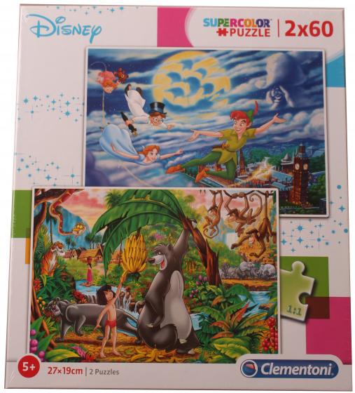 Clementoni Clementoni legpuzzel Disney 60 stukjes 2 stuks