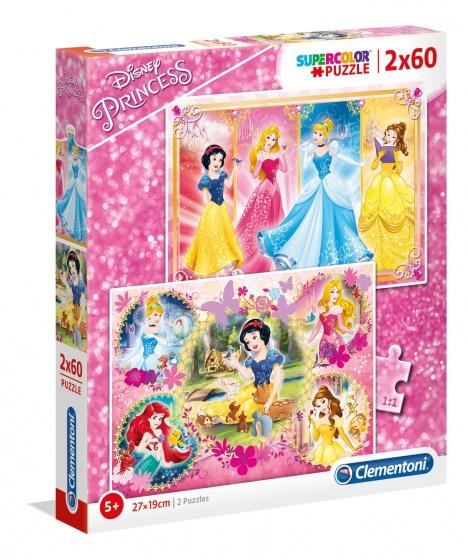 Clementoni Disney Princess legpuzzel 2 puzzels 60 stukjes