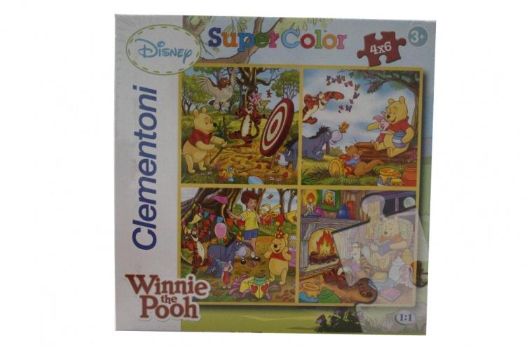 Clementoni Disney Puzzel 4X6ST Winnie The Pooh
