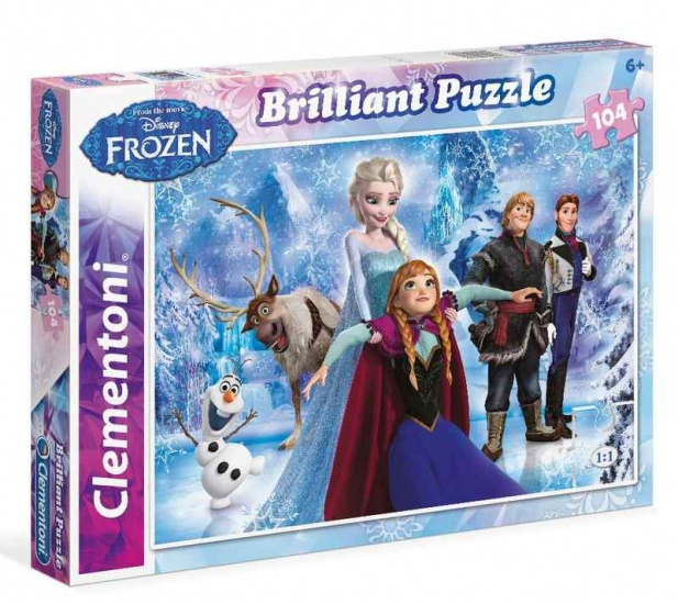 Frozen puzzel brilliant 104st.