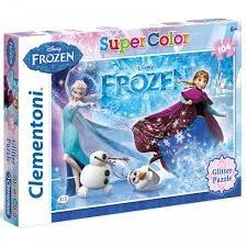 Clementoni Frozen Glitter legpuzzel 104 delig