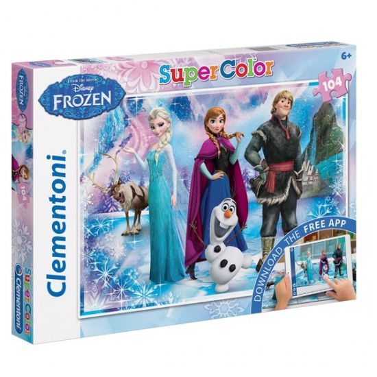 Clementoni Frozen legpuzzel en applicatie 104 delig