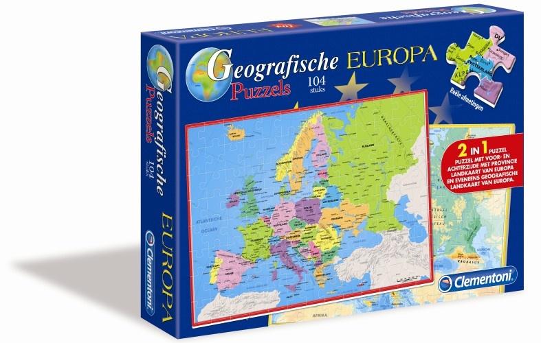 Clementoni Geografische Puzzel Europa 104 Stukjes