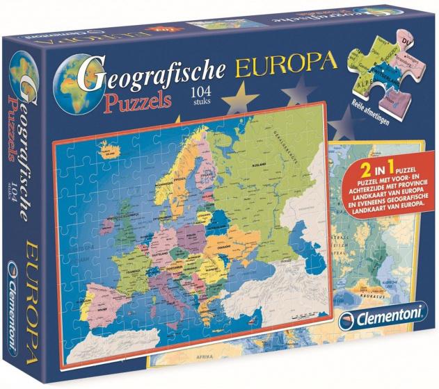 Topo Puzzel Europa 104st.