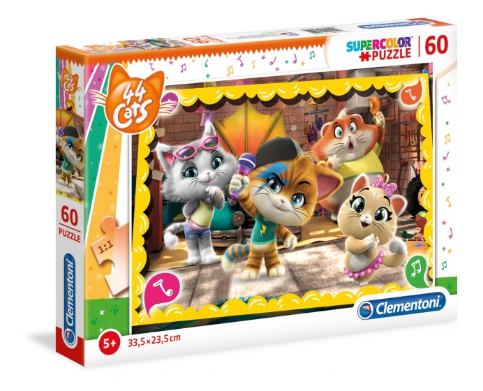 Clementoni legpuzzel 44 Cats Karaoke 60 stukjes