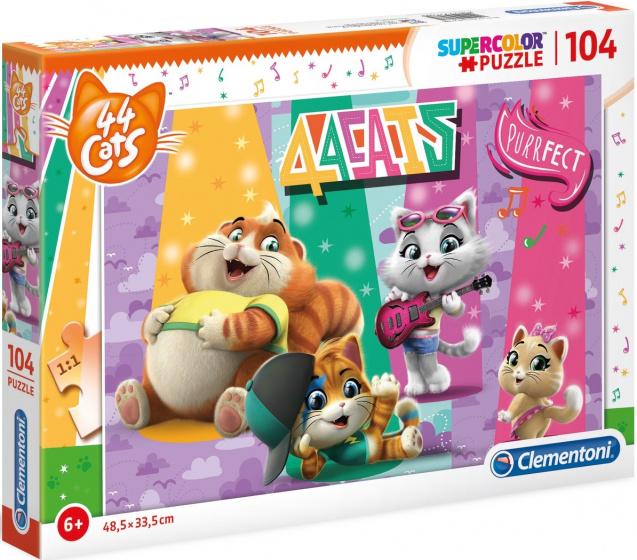 Clementoni Legpuzzel 44 Cats 104 stukjes