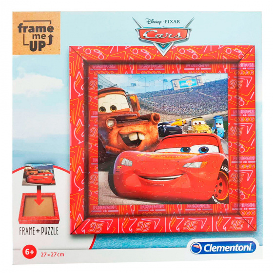 Clementoni legpuzzel Cars jongens 27 cm karton rood 61 delig