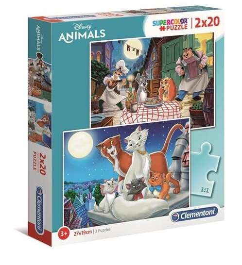 Clementoni legpuzzel Disney Animals junior 27 cm 2 x 20 delig