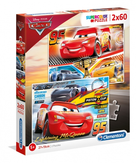 Clementoni Disney Cars 3 Puzzel 2x60 Stukjes