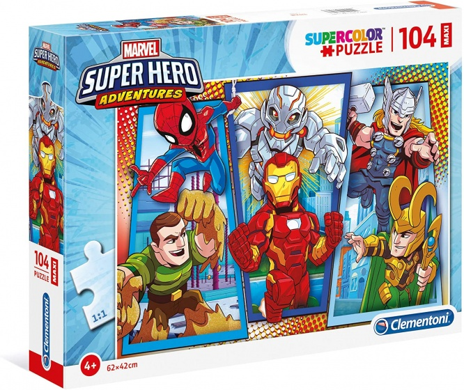 Clementoni legpuzzel Disney Super Hero Adventures 104 stukjes