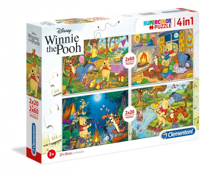 Clementoni legpuzzel Disney Winnie the Pooh 4 puzzels 20 180 stukjes