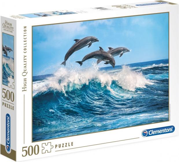 Clementoni legpuzzel High Quality Dolphins 500 stukjes