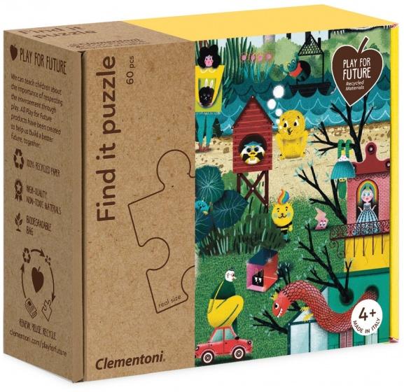 Clementoni legpuzzel Find It Garden 60 stukjes