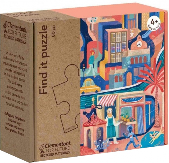 Clementoni legpuzzel Find It Sweetest City 60 stukjes