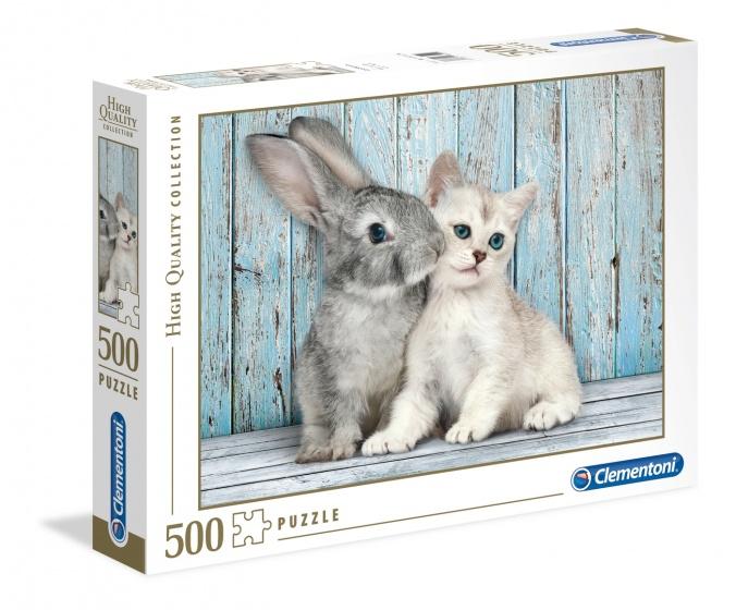 Puzzle Katze & Hase 500 tlg.