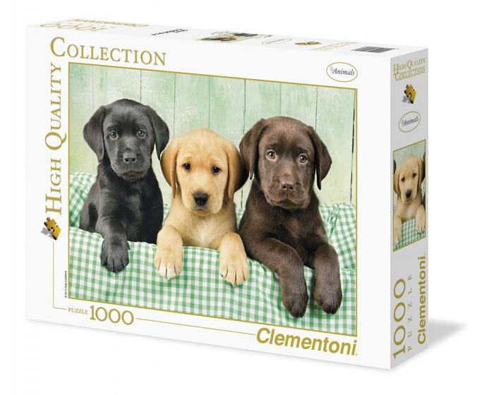 Clementoni legpuzzel Drie Labradors 1000 stukjes