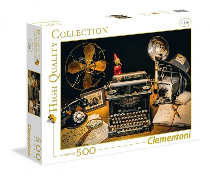 Clementoni legpuzzel High Quality Collection Typmachine 500 stukjes