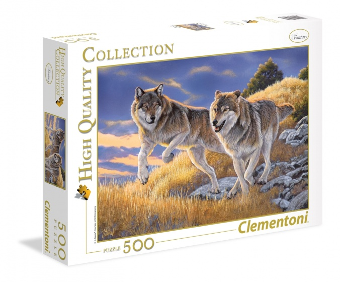 Clementoni legpuzzel High Quality Collection Wolven 500 stukjes
