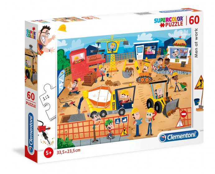 Clementoni legpuzzel Men At Work 60 stukjes