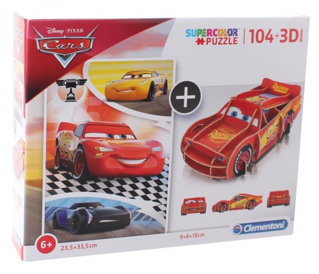 Clementoni legpuzzel met bouwpakket Cars 104 stukjes