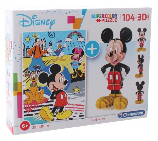 Clementoni legpuzzel met bouwpakket Mickey Mouse 104 stukjes