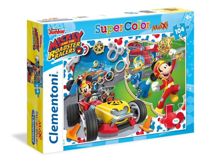 Clementoni legpuzzel Mickey Mouse Racers 104 stukjes
