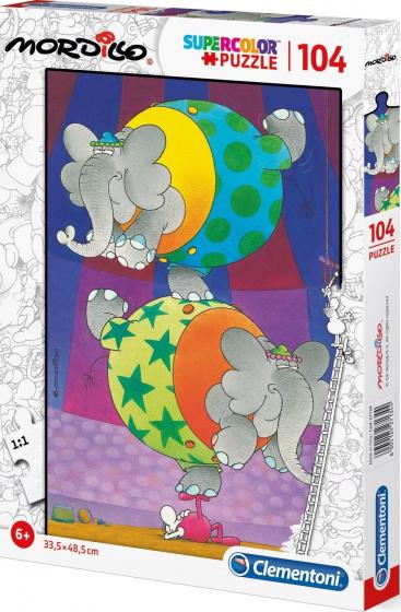 Clementoni legpuzzel Mordillo Supercolor 104 stukjes