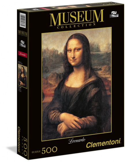 Clementoni legpuzzel Museum Collection Mona Lisa 500 stukjes