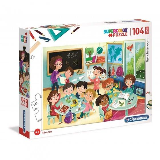 Clementoni legpuzzel My Classroom 104 stukjes 62 x 42 cm