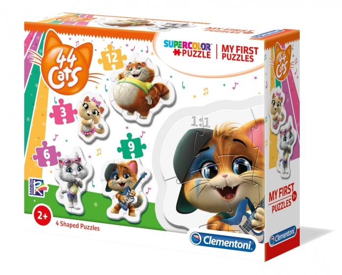 Clementoni legpuzzel My First Puzzle 44 Cats 4 puzzels
