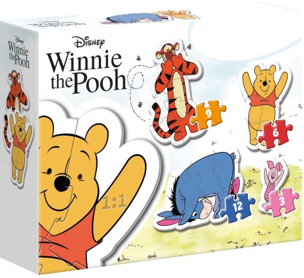 Clementoni legpuzzel My First Puzzle Winnie de Poe 4 puzzels