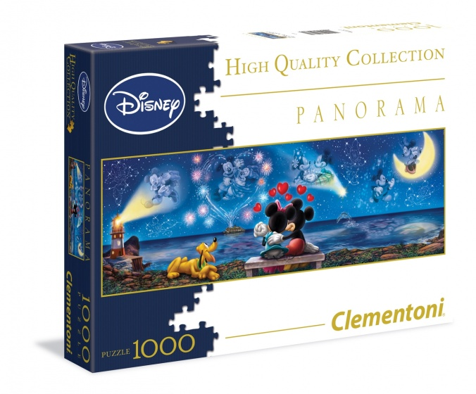 Clementoni Panorama puzzel Mickey & Minnie 1000 stukjes