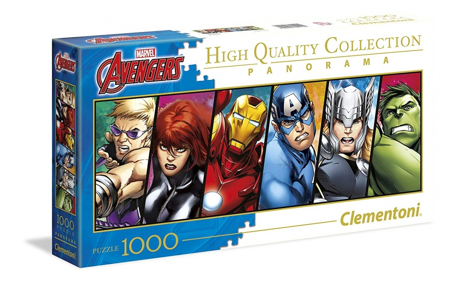 Clementoni legpuzzel Panorama Marvel Avengers 1000 stukjes
