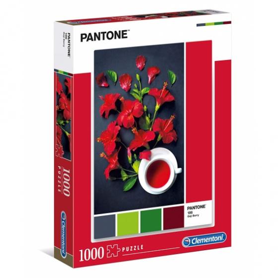Clementoni legpuzzel Pantone Red Hibiscus 1000 stukjes