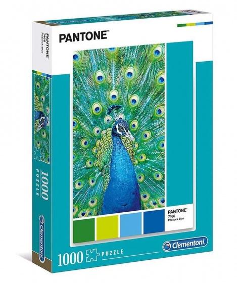 Clementoni legpuzzel Pantone Turqouise Peacock 1000 stukjes