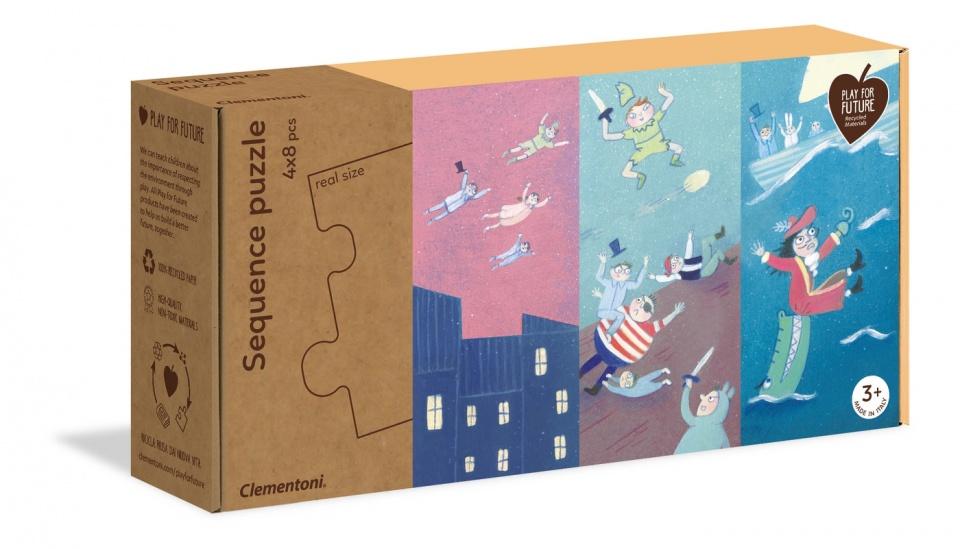 Clementoni legpuzzel Sprookjes junior 8 stukjes 4 stuks