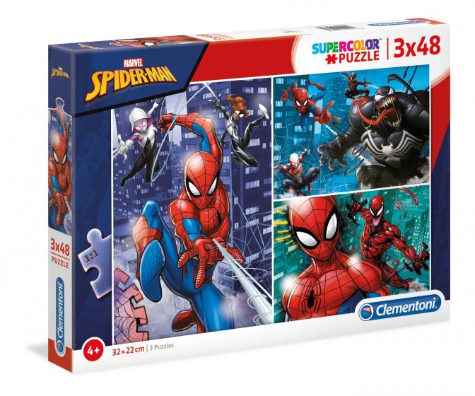 Clementoni legpuzzel Supercolor Marvel Spider Man 3x48 stukjes