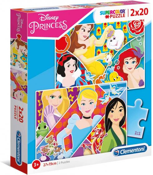 Clementoni legpuzzel Supercolor Princess junior 2 puzzels