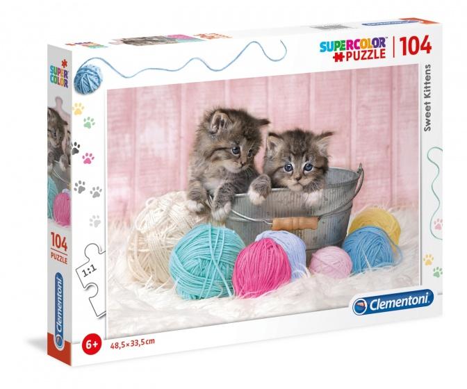 Clementoni legpuzzel Supercolor Sweet Kittens 104 stukjes
