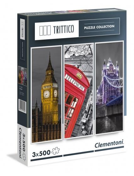 Clementoni Trittico puzzelset Londen 3 x 500 stukjes