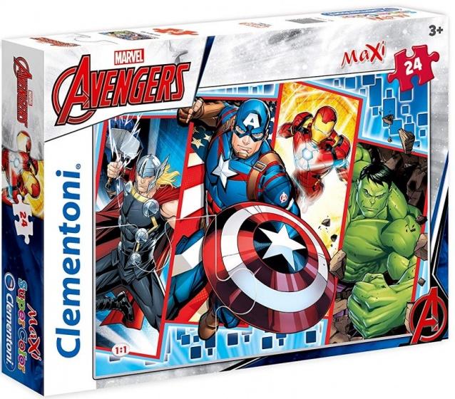 Clementoni maxi supercolor legpuzzel Avengers 24 stukjes