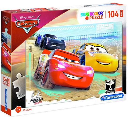 Clementoni maxi supercolor legpuzzel Cars 104 stukjes
